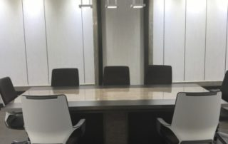 corporate office custom millwork design